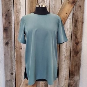 Eileen Fisher • Round Neck Boxy Top in Dragonfly